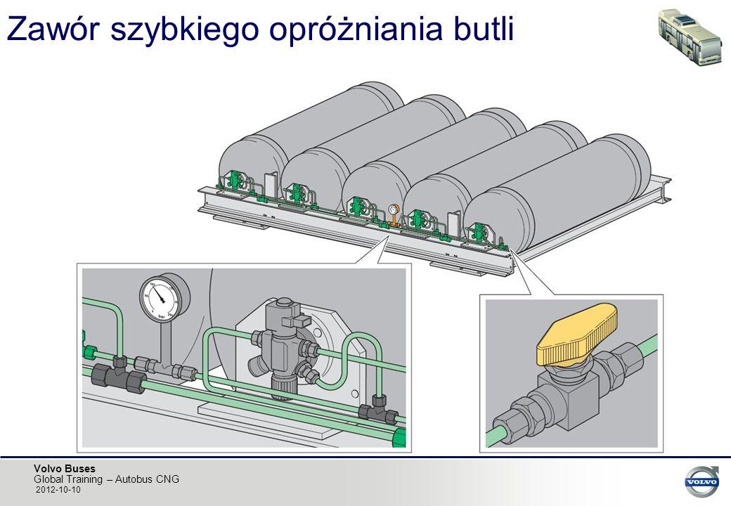 Volvo Buses Global Training – Autobus CNG 2012-10-10 Zawór szybkiego opróżniania butli