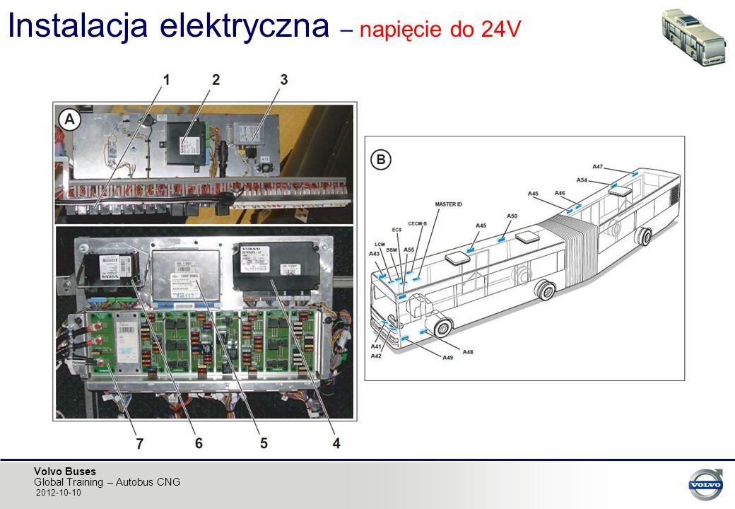 Volvo Buses Global Training – Autobus CNG 2012-10-10 Instalacja elektryczna – napięcie do 24V