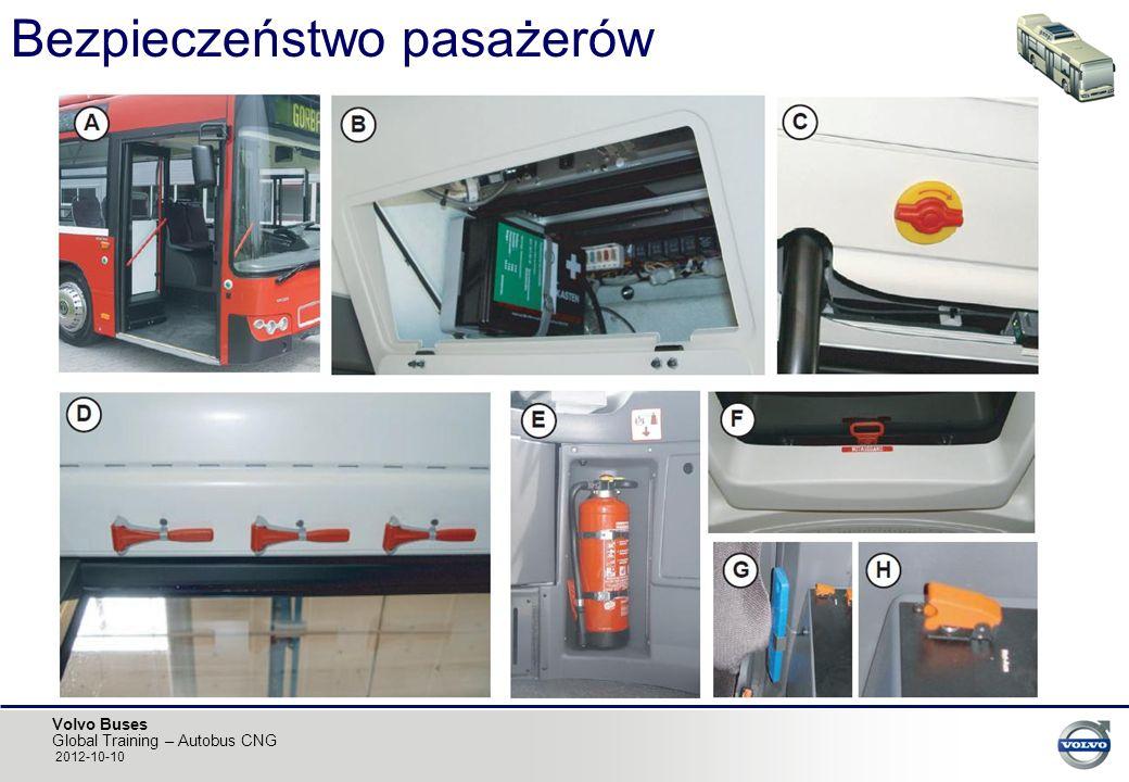 Volvo Buses Global Training – Autobus CNG 2012-10-10 Bezpieczeństwo pasażerów