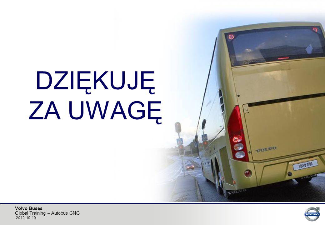 Volvo Buses Global Training – Autobus CNG 2012-10-10 DZIĘKUJĘ ZA UWAGĘ