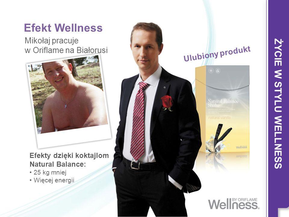 Efekt Wellness Mikołaj pracuje w Oriflame na Białorusi Efekty dzięki koktajlom Natural Balance: 25 kg mniej Więcej energii Ulubiony produkt ŻYCIE W ST
