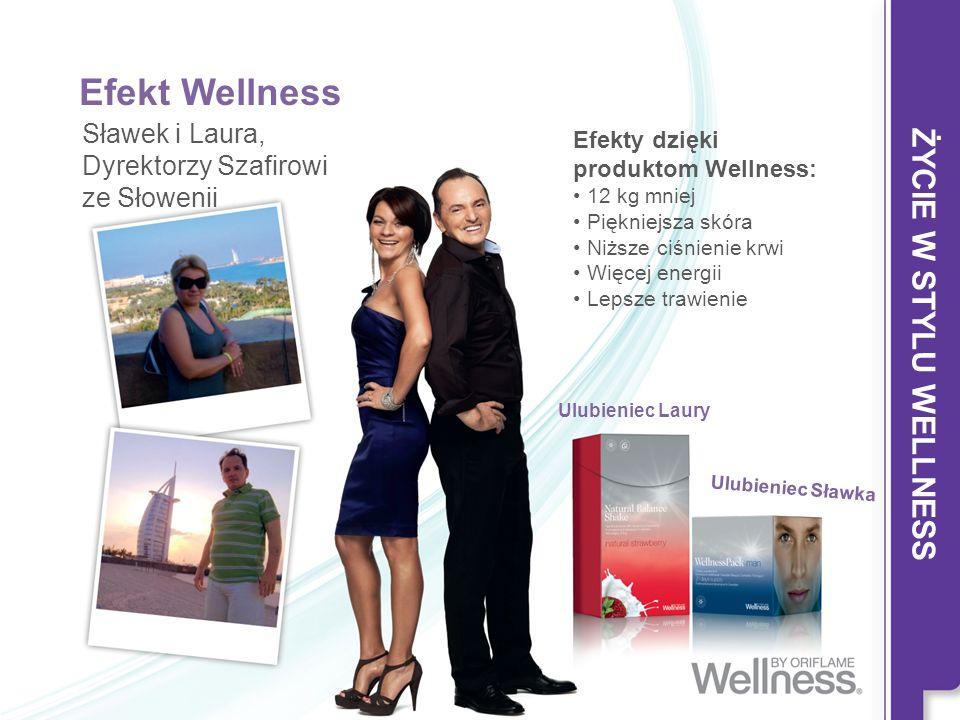 Efekt Wellness Sławek i Laura, Dyrektorzy Szafirowi ze Słowenii Efekty dzięki produktom Wellness: 12 kg mniej Piękniejsza skóra Niższe ciśnienie krwi