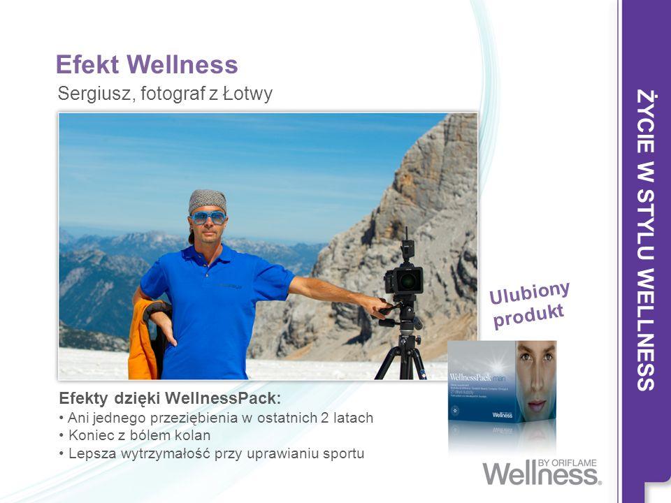 Efekt Wellness Efekty dzięki WellnessPack: Ani jednego przeziębienia w ostatnich 2 latach Koniec z bólem kolan Lepsza wytrzymałość przy uprawianiu spo