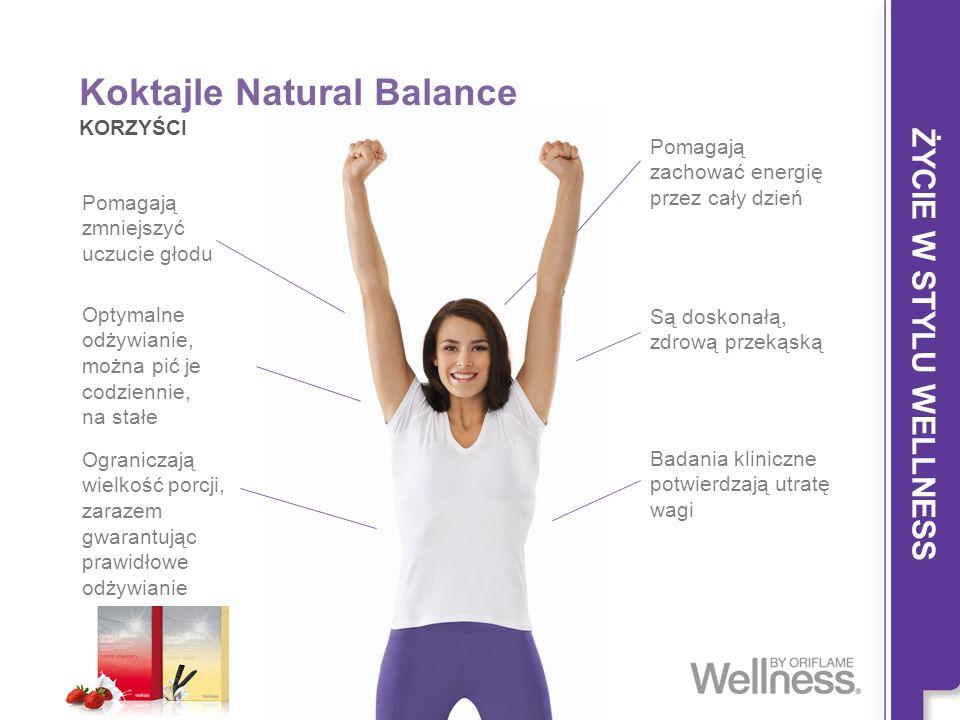 Koktajle Natural Balance KORZYŚCI Pomagają zmniejszyć uczucie głodu Pomagają zachować energię przez cały dzień Optymalne odżywianie, można pić je codz