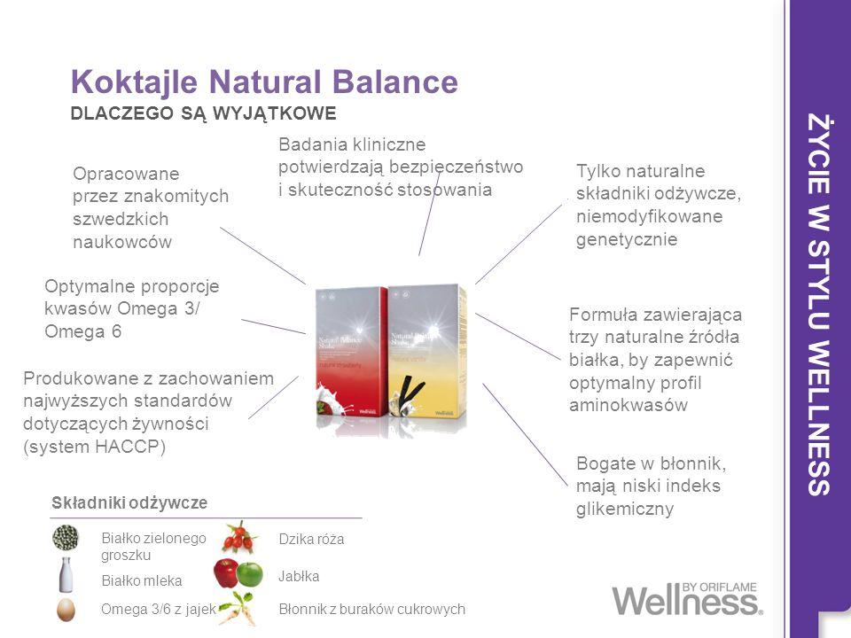 Koktajle Natural Balance DLACZEGO SĄ WYJĄTKOWE Opracowane przez znakomitych szwedzkich naukowców Optymalne proporcje kwasów Omega 3/ Omega 6 Formuła z