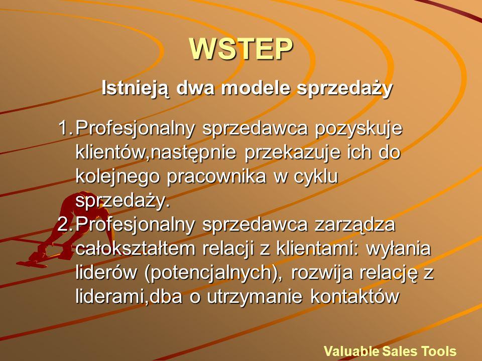 WSTEP Istnieją dwa modele sprzedaży 1.