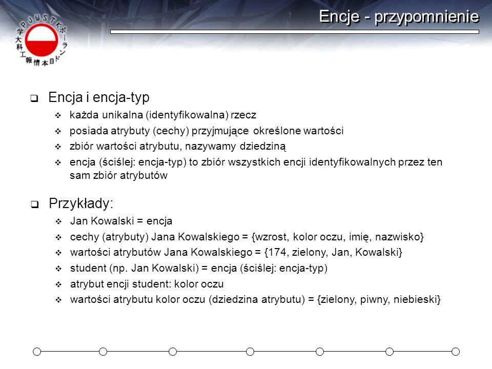 Zapytania typu SELECT Typowy SELECT składa się z: wskazania kolumn wskazania tabeli FROM filtru rekordów WHERE warunek żądania sortowania ORDER BY mysql> select * from czlowiek; +-------+-------------+   imie   nazwisko   +-------+-------------+   Roman   Pipokucki     Roman   Popopizacki   +-------+-------------+ select imie from czlowiek; +-------+   imie   +-------+   Roman   +-------+ mysql> select * from czlowiek order by imie DESC, nazwisko ASC; +-------+-----------+   imie   nazwisko   +-------+-----------+   Roman   Kukurocki     Roman   Kupikucki   +-------+-----------+ mysql> select distinct imie from czlowiek where imie like jan% ; +--------+   imie   +--------+   Jan     Janusz   +--------+