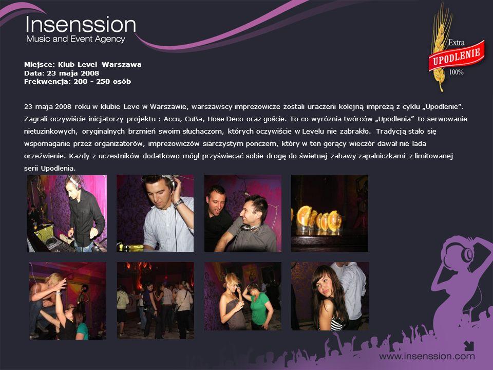 Miejsce: Klub Opium Warszawa Data: 27 czerwca 2008 Frekwencja: 300 - 350 osób Kolejna gorąca noc lata i kolejna niemniej gorąca impreza Upodlenia, tym razem odbyła się w dniu 27 czerwca 2008 roku w klubie Opium.