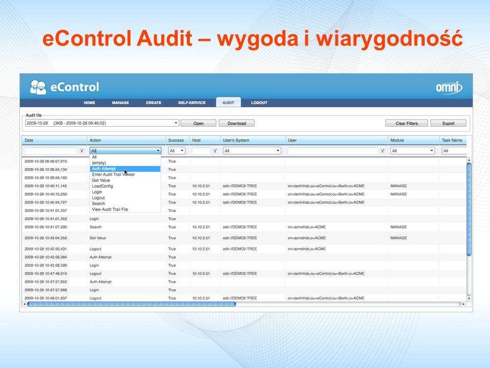 eControl Audit – wygoda i wiarygodność