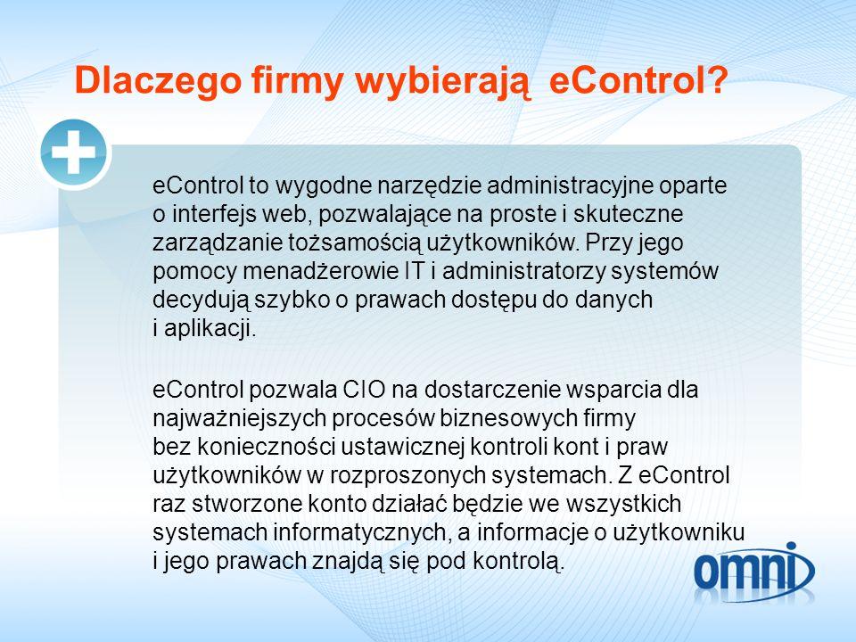 Dlaczego firmy wybierają eControl.
