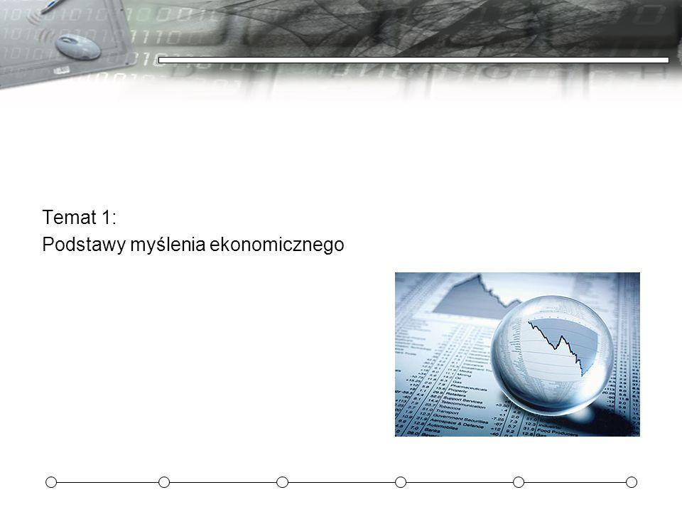 Temat 1: Podstawy myślenia ekonomicznego