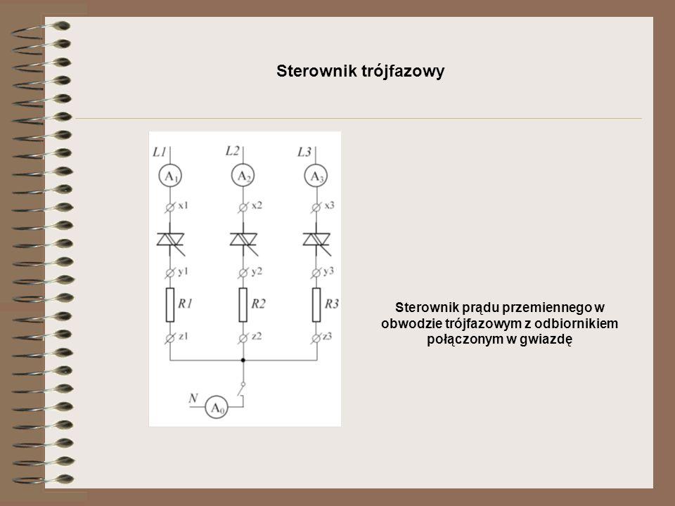 Sterownik trójfazowy Sterownik prądu przemiennego w obwodzie trójfazowym z odbiornikiem połączonym w trójkąt