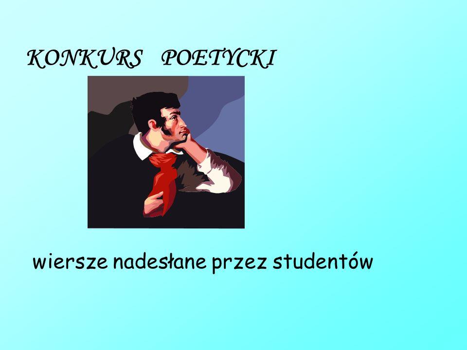 KONKURS POETYCKI wiersze nadesłane przez studentów
