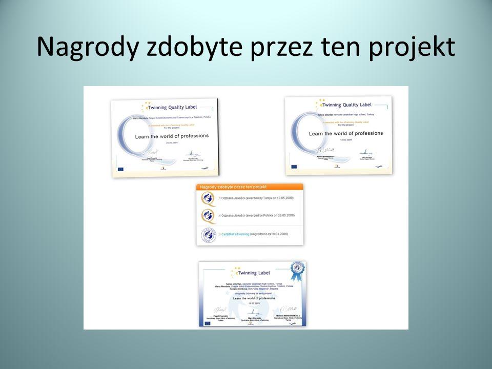 Nagrody zdobyte przez ten projekt