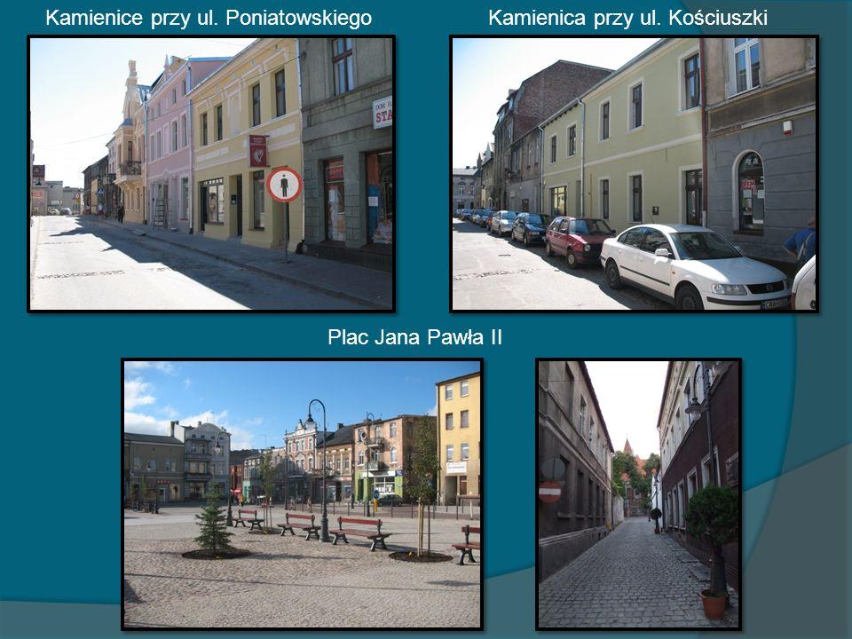 Kamienice przy ul. PoniatowskiegoKamienica przy ul. Kościuszki Plac Jana Pawła II