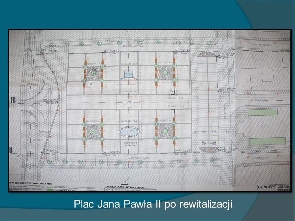Plac Jana Pawła II po rewitalizacji