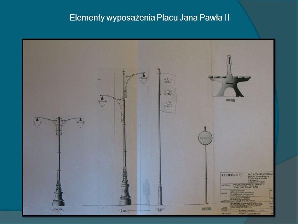Elementy wyposażenia Placu Jana Pawła II