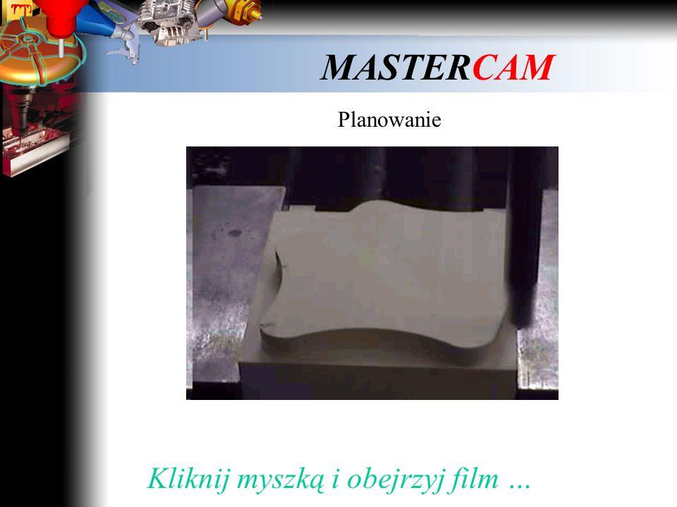 MASTERCAM 2. Kształt toru ruchu narzędzia w trakcie obróbki Kliknij myszką dalej …