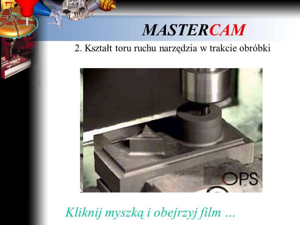 MASTERCAM 2. Kształt toru ruchu narzędzia w trakcie obróbki Film 1 Kliknij myszką i obejrzyj film …