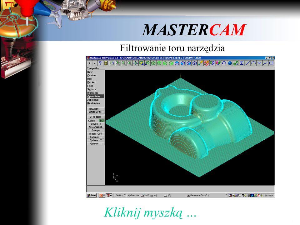 MASTERCAM 3. Przejście między kolejnymi warstwami Kliknij myszką i obejrzyj film …