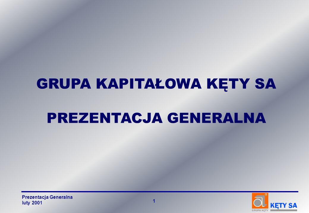 GRUPA KAPITAŁOWA KĘTY SA PREZENTACJA GENERALNA Prezentacja Generalna luty 2001 1