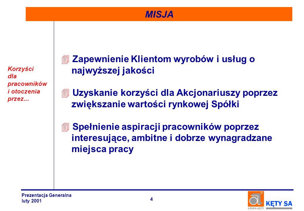 Zdobycie pozycji lidera rynku opakowań giętkich i systemów aluminiowych na bazie wyrobów wyciskanych w Centralnej oraz Wschodniej Europie Silna pozycja nie tylko na rynku krajowym lecz...