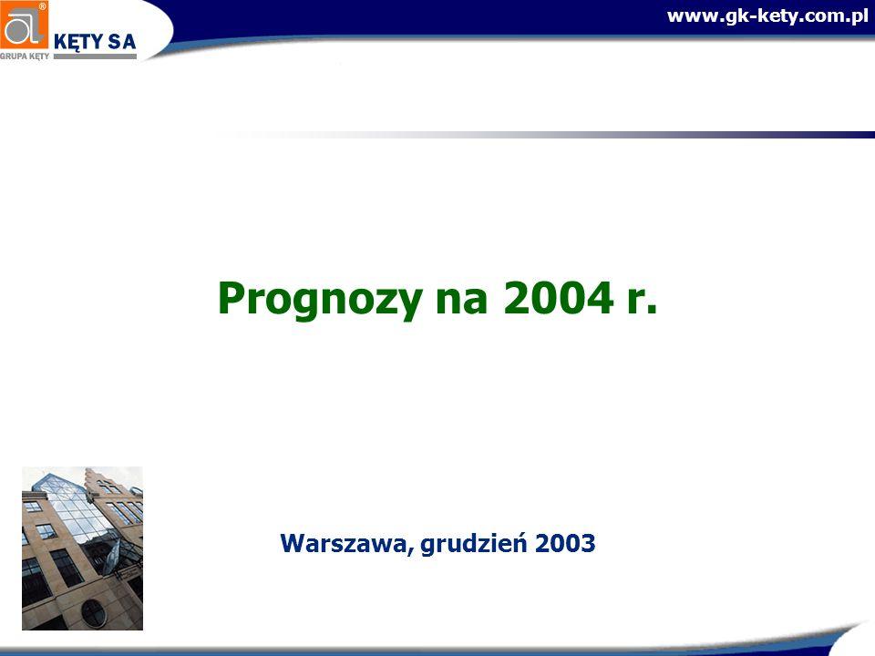 www.gk-kety.com.pl Prognozy na 2004 r. Warszawa, grudzień 2003