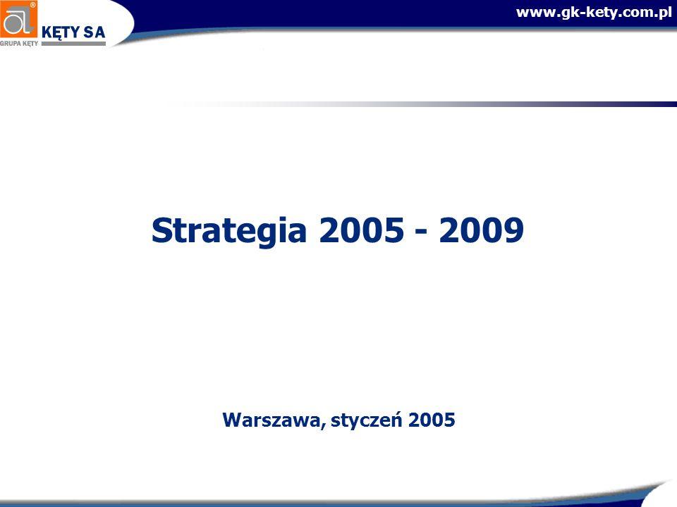 www.gk-kety.com.pl Prognozy 2005 (Pierwszy rok wdrażania strategii)