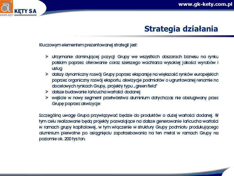 www.gk-kety.com.pl Cele finansowe na lata 2005 - 2009