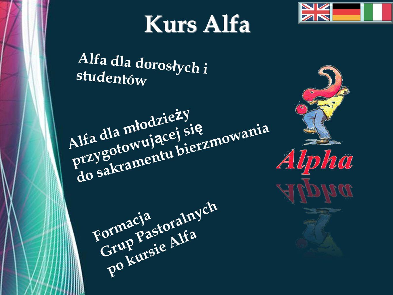 Free Powerpoint Templates Kurs Alfa Formacja Grup Pastoralnych po kursie Alfa Alfa dla m ł odzie ż y przygotowuj ą cej si ę do sakramentu bierzmowania