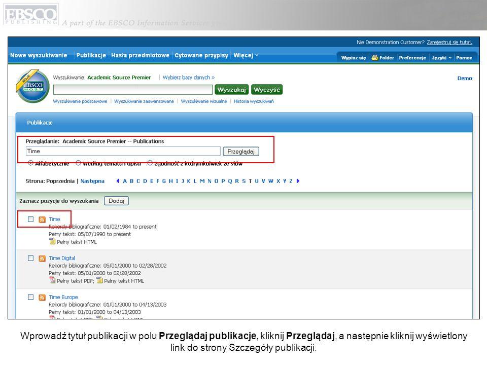W rekordzie publikacji kliknij Alert/Zapis/Współdzielenie w prawym górnym rogu.