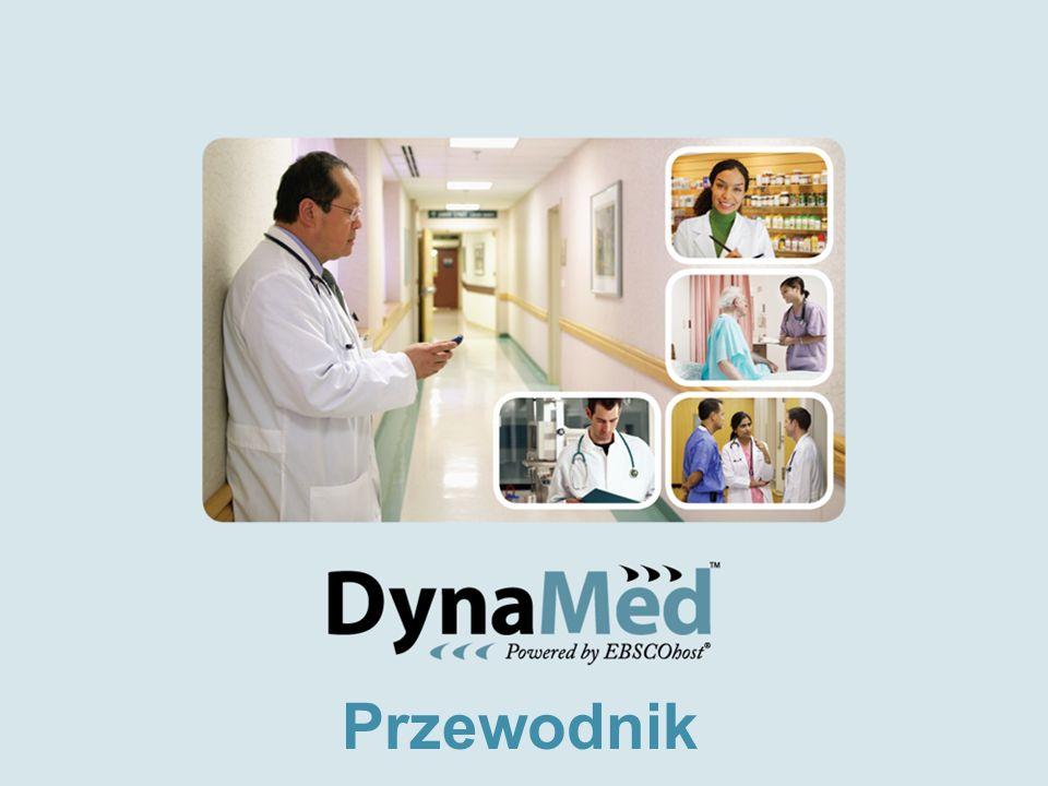 Dostęp do bazy DynaMed http://www.ebscohost.com/dynamed Dostęp nielimitowany online –lokalnie na miejscu w instytucji, szpitalu z adresów IP –dostęp zdalny w domu, w klinice Dostęp w formie aplikacji PDA do załadowania na palmtopy i urządzenia mobilne