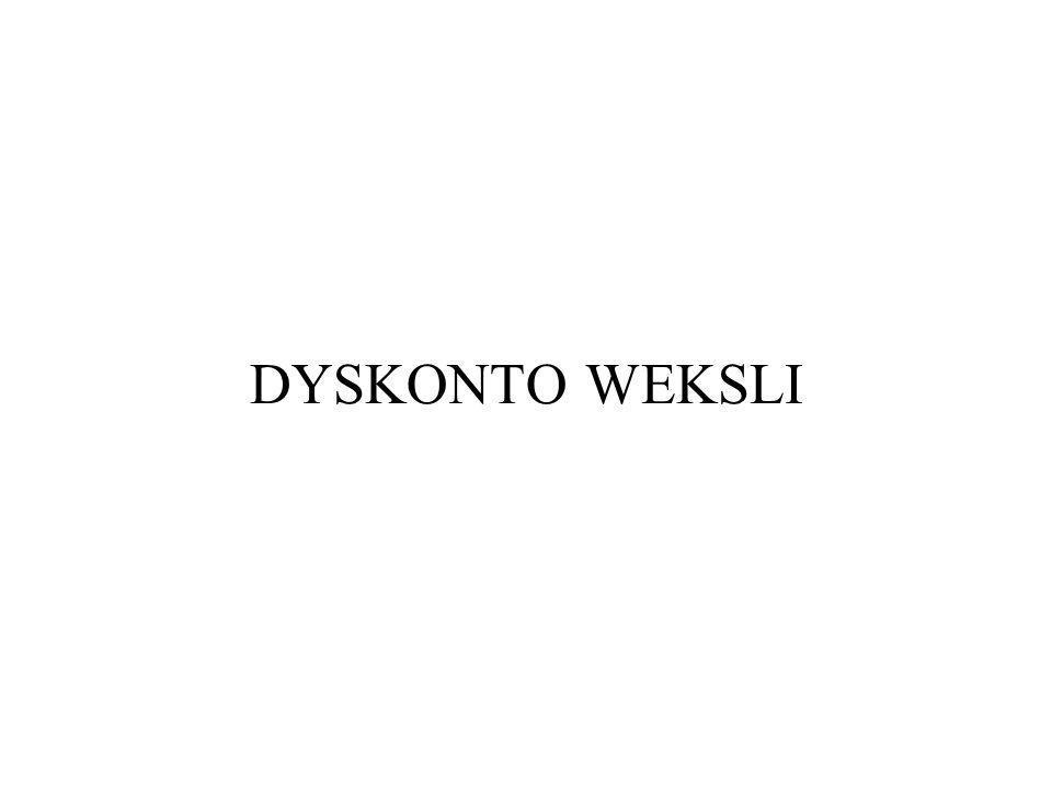 DYSKONTO WEKSLI