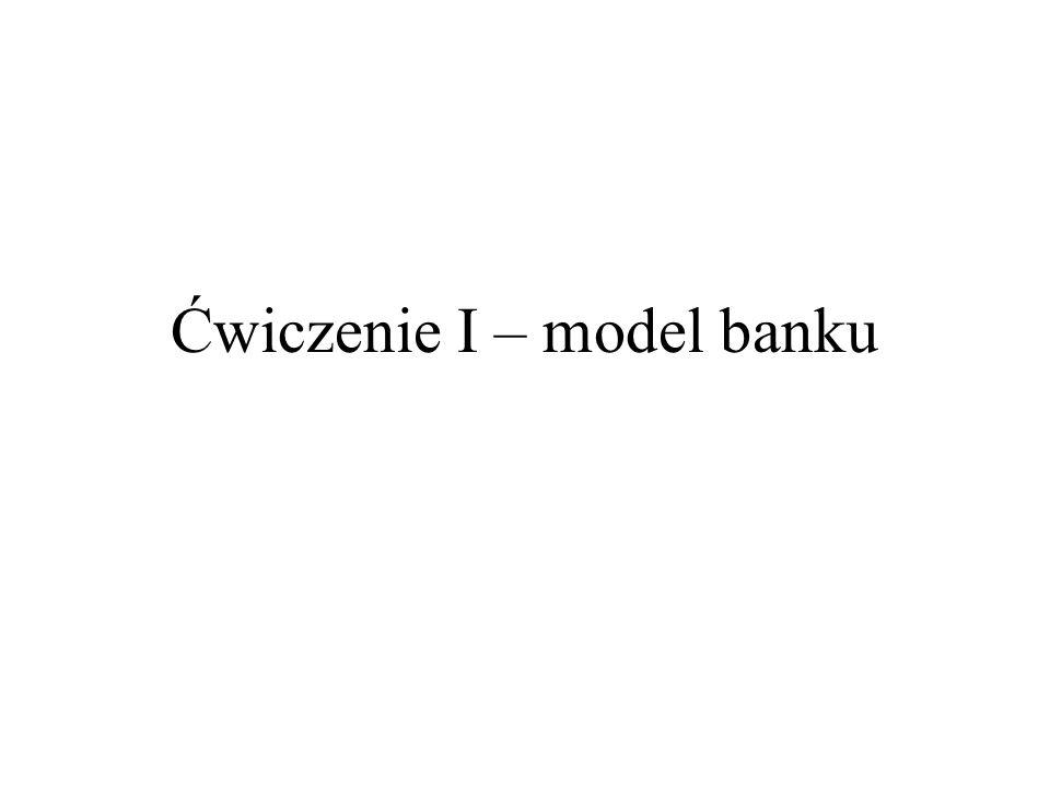 Ćwiczenie I – model banku