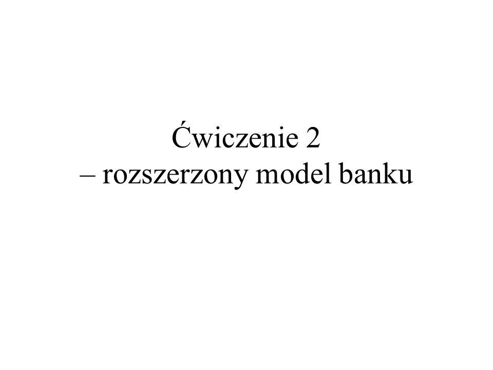 Ćwiczenie 2 – rozszerzony model banku