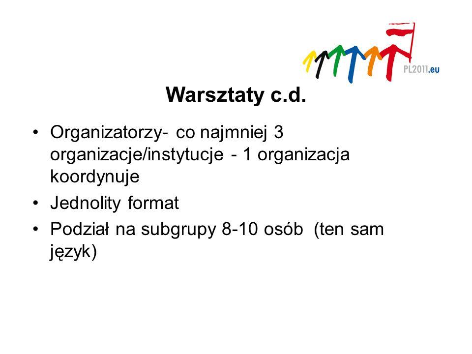 Warsztaty c.d.