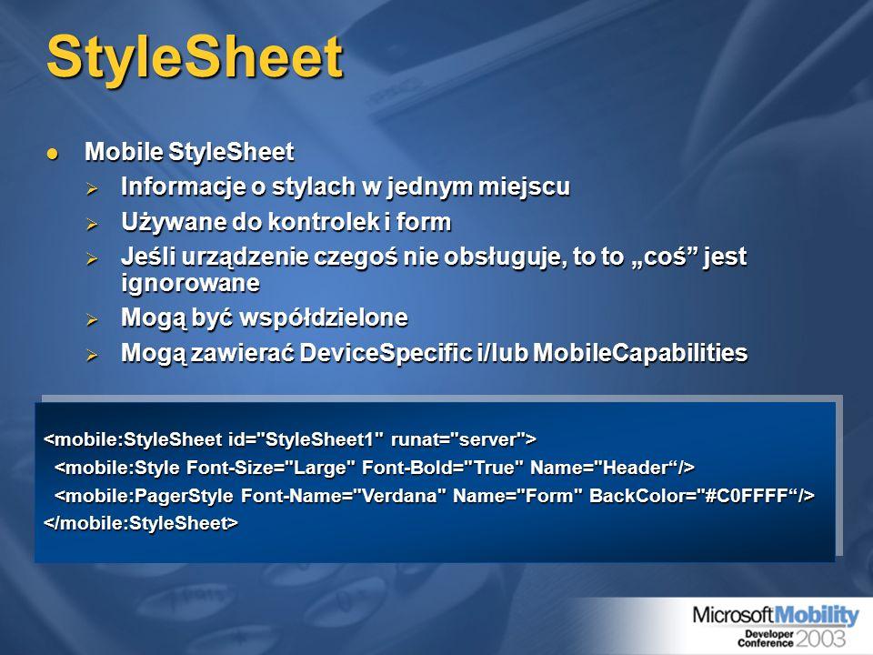 StyleSheet Mobile StyleSheet Mobile StyleSheet Informacje o stylach w jednym miejscu Informacje o stylach w jednym miejscu Używane do kontrolek i form