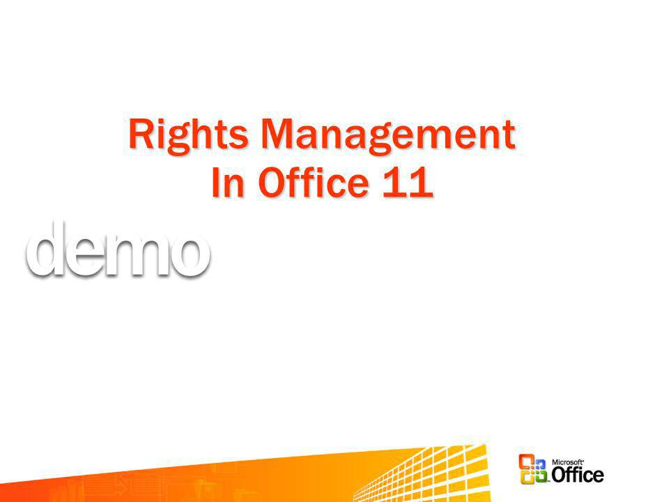 Rights Management In Office 11