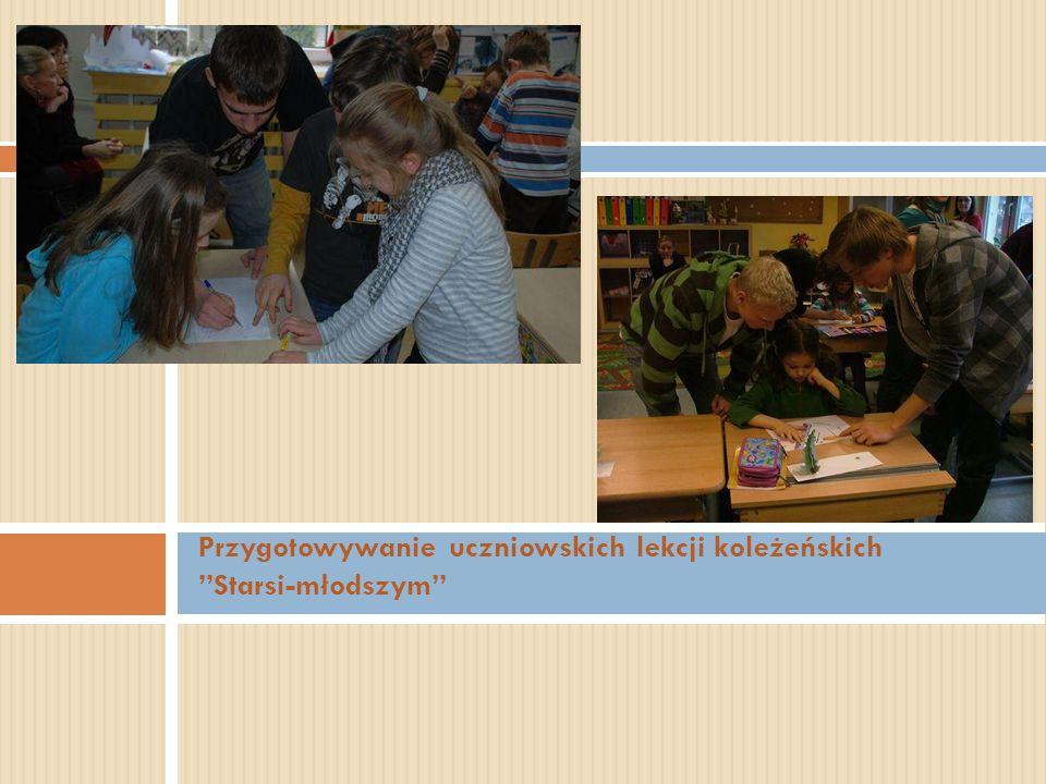 Przygotowywanie uczniowskich lekcji koleżeńskich Starsi-młodszym