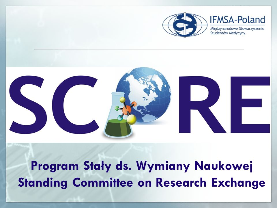 Program Stały ds. Wymiany Naukowej Standing Committee on Research Exchange
