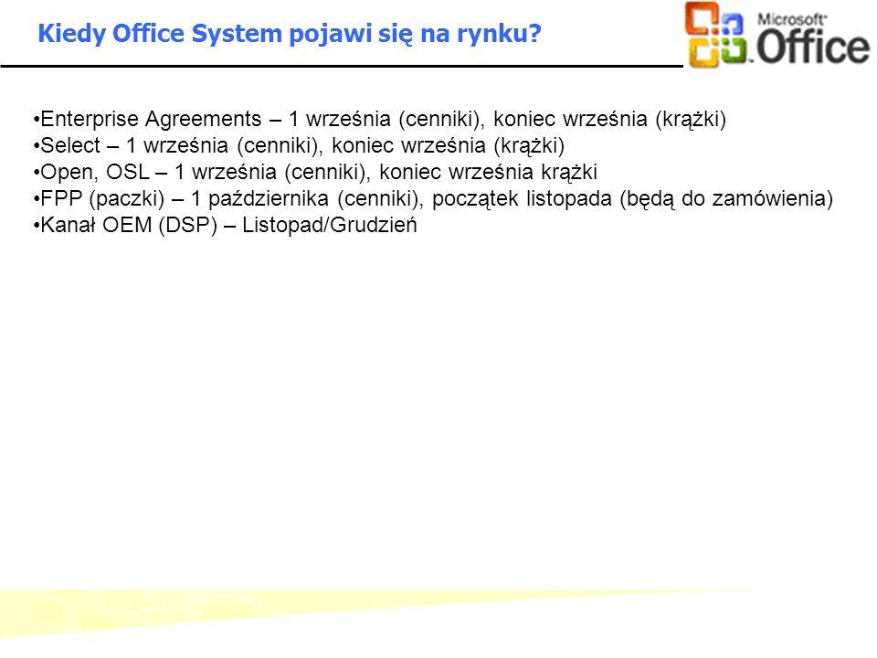 - 9 - Microsoft Confidential: Internal Use Only Kiedy Office System pojawi się na rynku? Enterprise Agreements – 1 września (cenniki), koniec września