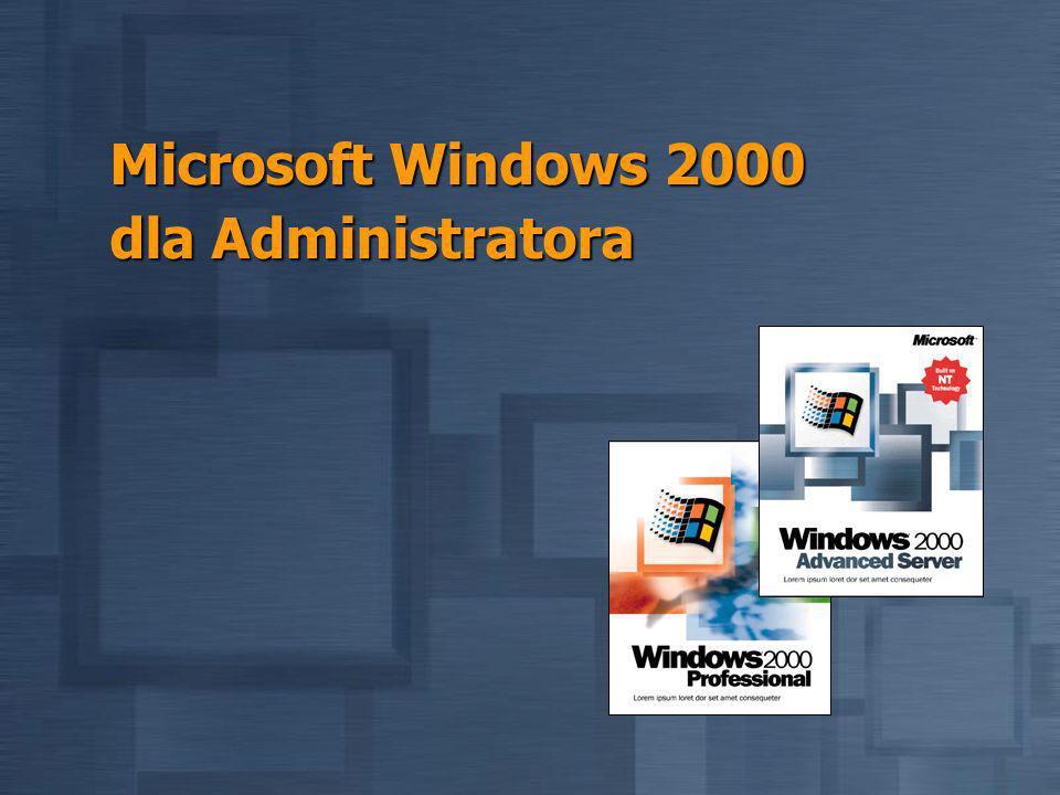 Microsoft Windows 2000 dla Administratora
