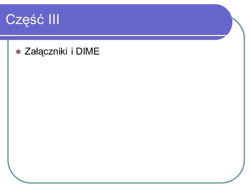Część III Załączniki i DIME