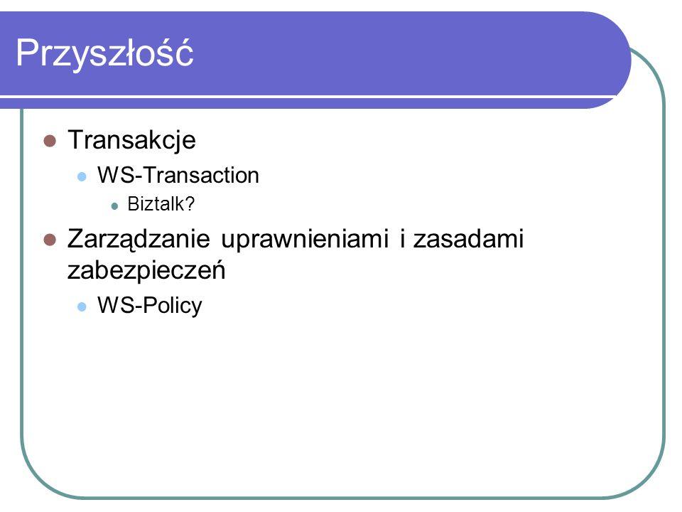 Przyszłość Transakcje WS-Transaction Biztalk.