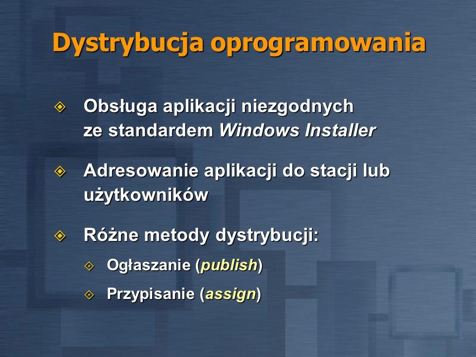 Dystrybucja oprogramowania Obsługa aplikacji niezgodnych ze standardem Windows Installer Obsługa aplikacji niezgodnych ze standardem Windows Installer