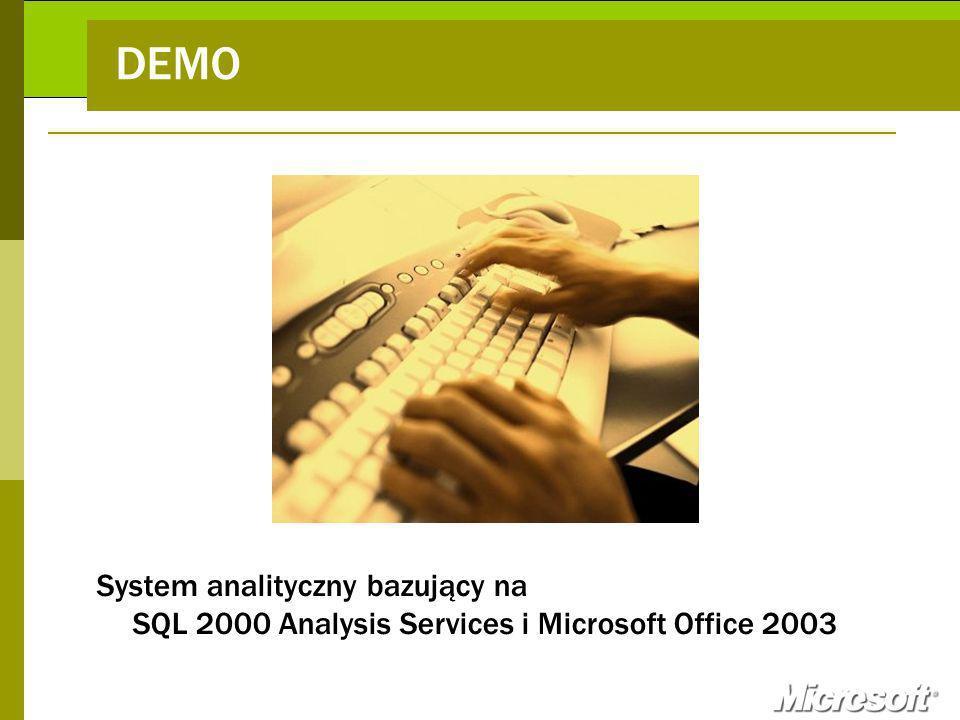 DEMO System analityczny bazujący na SQL 2000 Analysis Services i Microsoft Office 2003