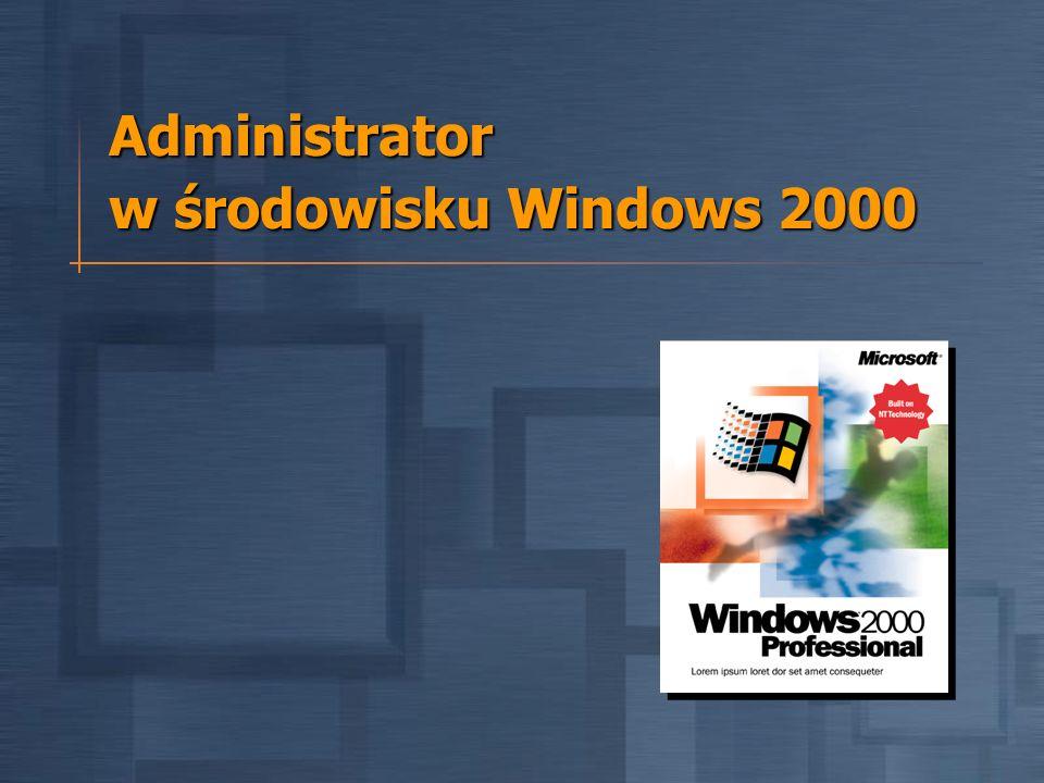 Administrator w środowisku Windows 2000