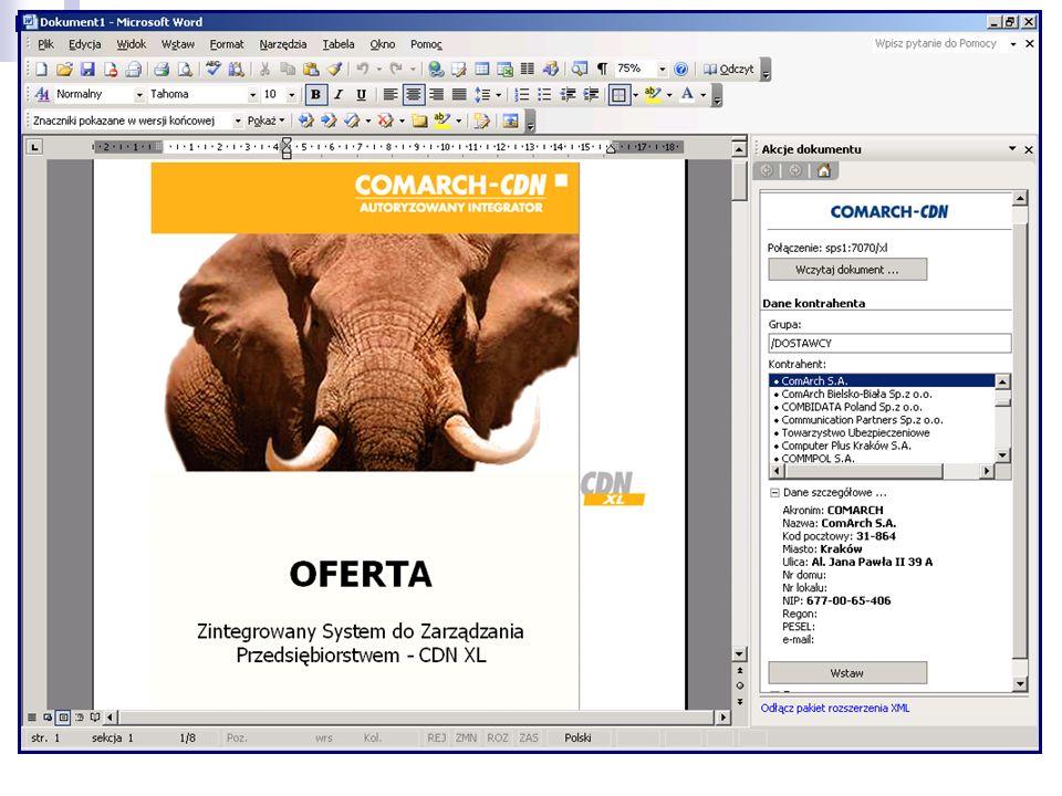 Ofertowanie w Microsoft Word 2003 MICROSOFT SQL SERVER 2000 SERWIS INFORMACJI OFERTOWYCH