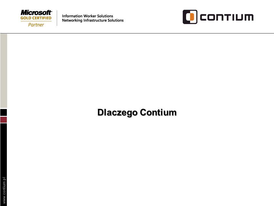 www.contium.pl Dlaczego Contium