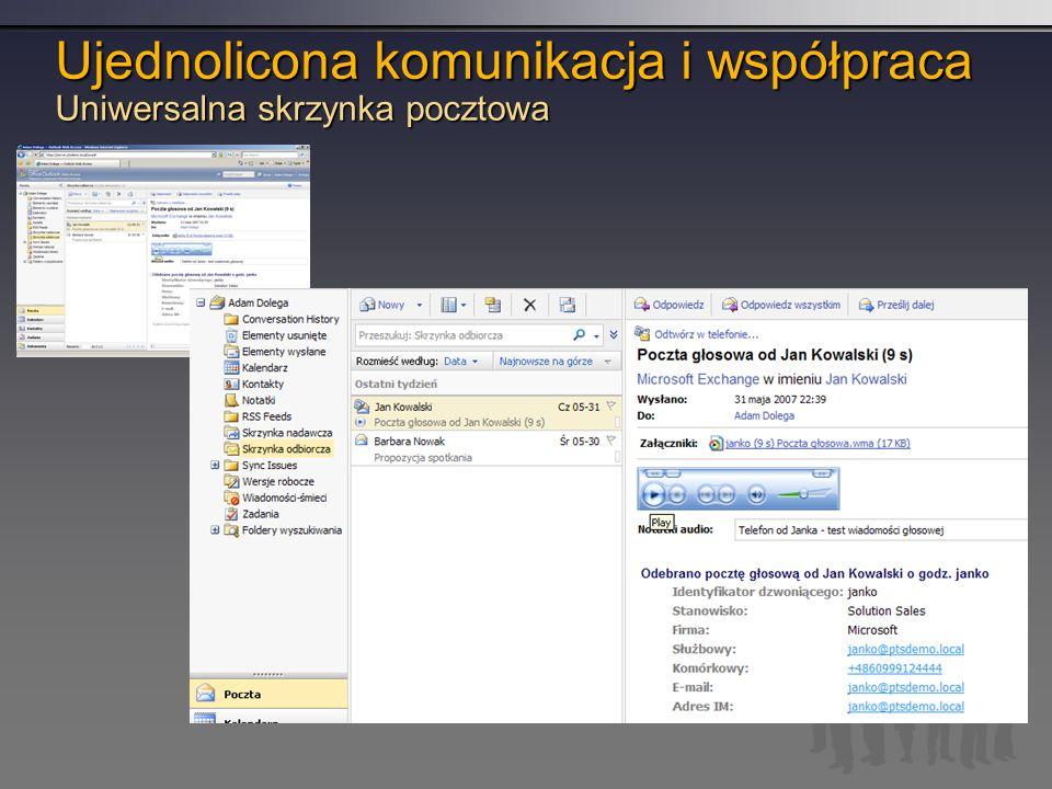 Ujednolicona komunikacja i współpraca Uniwersalna skrzynka pocztowa